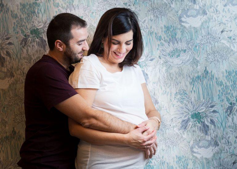 Sesión embarazo en domicilio